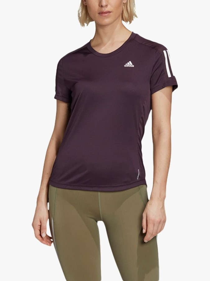 adidas Own The Run Short Sleeve Running Top, Noble Purple