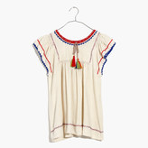 Madewell Ulla JohnsonTM Silk Katya Peasant Top