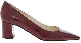 Innovare Made in Italy Lolitta Burgundy Croc Print Heeled Shoe