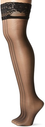 Peds Women's Fusion Thigh High Pantyhose 3-Pack