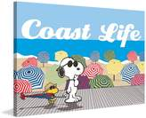 """Peanuts MH-PNTS-907-C-24 """"Coast Life"""" Painting Print on Wrapped Canvas"""