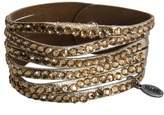 Esprit EDBR20825C Women's Bracelet Brown Faux Leather, 18 cm, Gold