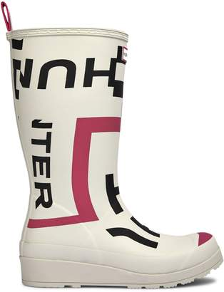 Hunter Waterproof Graphic Logo Rubber Boots