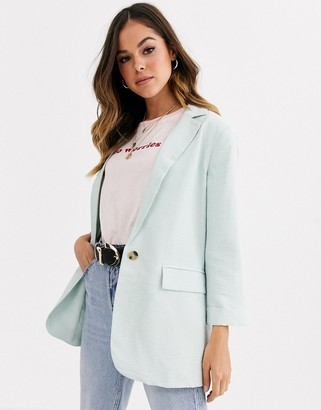 New Look blazer in mint green