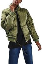 Topshop Carter Satin Puffer Jacket