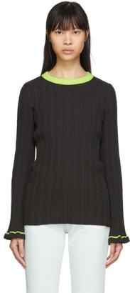 MM6 MAISON MARGIELA Grey Contrast Neck Sweater