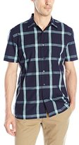 Perry Ellis Men's Large Window Pane Pattern Shirt