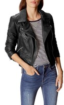 Karen Millen Signature Leather Moto Jacket