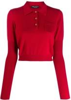 Dolce & Gabbana cropped polo jumper