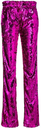 Faith Connexion High-Waisted Sequin Trousers