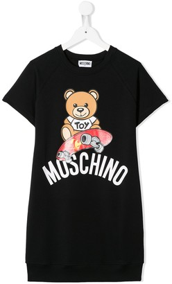 MOSCHINO BAMBINO skater teddy bear T-shirt dress
