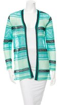 M Missoni Patterned Open Front Cardigan w/ Tags
