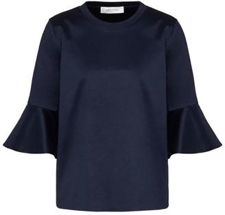 Valentino Ruffled Sleeve Cotton T-Shirt