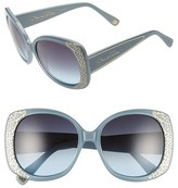 Oscar de la Renta Women's '212' 56Mm Metal Filigree Square Sunglasses - Black