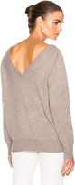 Victoria Beckham Felted Lambswool Double V Neck Jumper