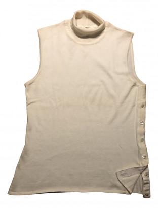 Hermes White Cashmere Tops