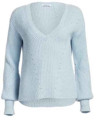 Derek Lam 10 Crosby Shimmer Merino Wool Cashmere Sweater