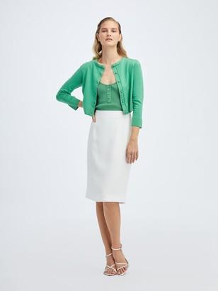 Oscar de la Renta Ivory Pencil Skirt