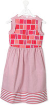 Familiar square and stripe printed dress - kids - Cotton/Polyester - 6 yrs