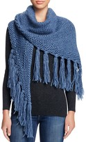 Fraas Cable Knit Triangle Scarf