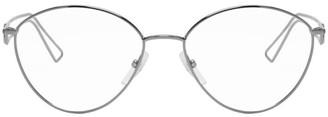 Balenciaga Gunmetal Metal Glasses