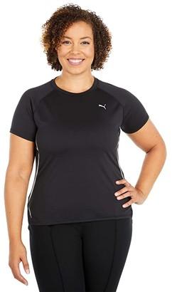 Puma Run Laser Cat Short Sleeve Tee Black) Women's T Shirt