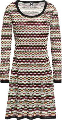 M Missoni Cotton-blend Jacquard Mini Dress