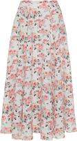 Emilia Wickstead Eleanor Pleated Midi Skirt