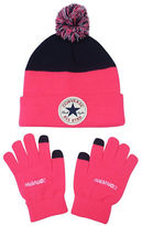 Converse Blocked Beanie and Gloves Set