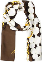Kenneth Jay Lane Silk Chain-Link Printed Scarf w/ Tags