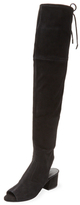 Sigerson Morrison Mason Peep-Toe Over The Knee Boot