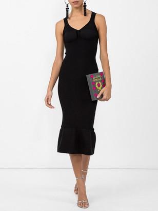 Alexander Wang Peplum Hem Bodycon Dress Black