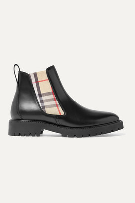 Burberry Leather Chelsea Boots - Black