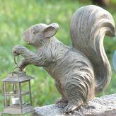 Squirrel Statue with Lantern