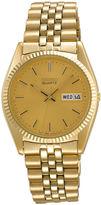 Seiko Mens Gold-Tone Dress Watch SGF206