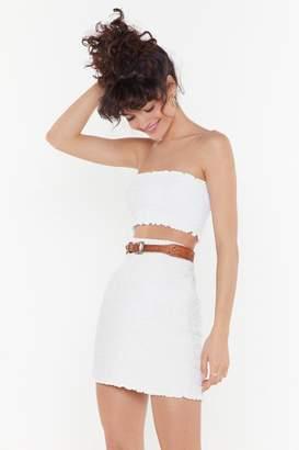 Nasty Gal Womens What Have You Shirred Mini Skirt - White - 12, White
