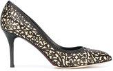 Oscar de la Renta floral lace pattern pumps