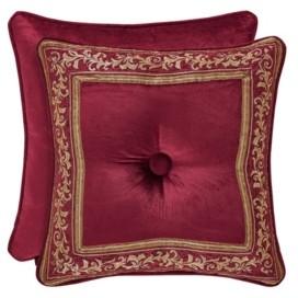 "J Queen New York J Queen Maribella Crimson 18"" Square Bedding"