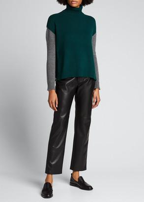 Majestic Filatures Colorblock Wool-Cashmere Turtleneck Sweater