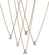 """Roberto Coin 18K Yellow Gold and Diamond Initial Love Letter Pendant Necklace, 16"""""""
