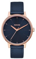 Nixon Women's 'The Kensington' Leather Strap Watch, 37Mm