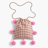 J.Crew GaiaTM for pom-pom bag in gingham