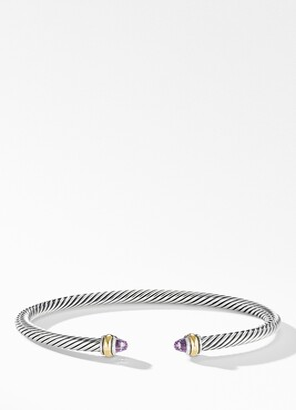 David Yurman 4mm Cable Classic Bracelet with 18K Gold & Semiprecious Stones