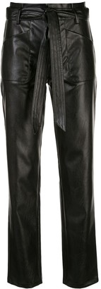 Alexis Belted Straight-Leg Trousers
