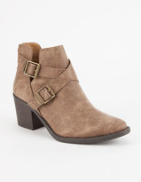 Qupid Strappy Cutout Womens Booties