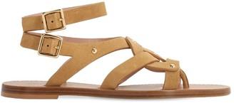Alberta Ferretti 10mm Suede Flat Sandals
