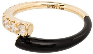 Melissa Kaye 18kt gold Lola enamelled diamond ring