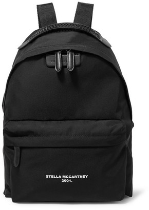 Stella McCartney The Falabella Go Faux Leather-trimmed Printed Shell Backpack - Black