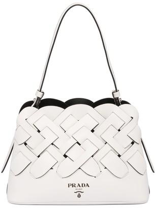 Prada Woven Design Tote Bag