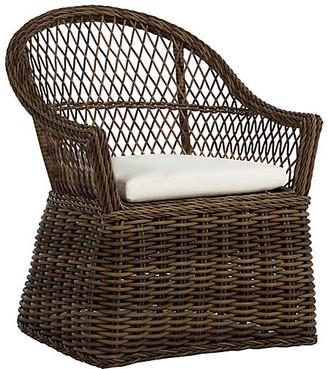 Soho Outdoor Armchair - Raffia - SUMMER CLASSICS INC - frame, raffia; upholstery, white